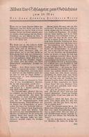 Albert Leo-Schlageter Zum Gedächtnis / Artikel, Entnommen Aus Zeitschrift / 1933 - Bücher, Zeitschriften, Comics