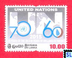 Sri Lanka Stamps 2015, United Nations, 70 Years, UN, MNH - Sri Lanka (Ceylon) (1948-...)