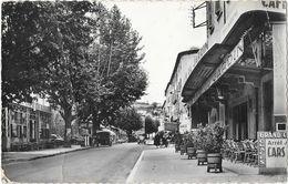 Privas-en-Vivarais (Ardèche) - Cours Du Palais, Café Du Jardin - Edition Cellard, Carte N° 48.717 - Privas