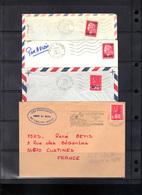 La Réunion : 4 Enveloppes Pour France, Années 70. - Réunion (1852-1975)