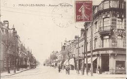 Carte Postale Ancienne De Malo Les Bains L'avenue Faidherbe - Malo Les Bains