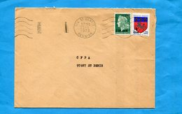 REUNION-lettre Pour Françe -cad Saint Benoit-1973-2 Stamps Cfa-N° 384 Cheffer+386 St Lo - Reunion Island (1852-1975)