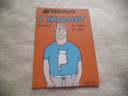 BELLE ILLUSTRATION HUMORISTIQUE ....AUTOCOLLANT ...TAUREAU ...L'INSOLENT ...SIGNE HOVIV ?? - Humour