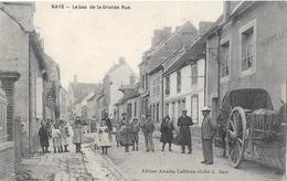 "BAYE ( 51-Marne ) Le Bas De La Grande Rue  "" Grosse Animation "" - France"