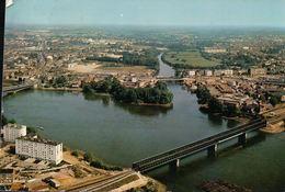 NANTES Vue Aérienne Pont SNCF - Nantes