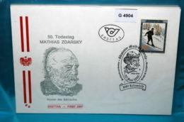 FDC-G4904 50.Tt. Mathias Zdarsky, Begr. Skifahrt-Technik, SSt. Lilienfeld, AT 90 - FDC