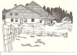 MONT De FUANS - 25 Doubs - Dessin De Jean Garneret - Avril 1976 - Altri Comuni
