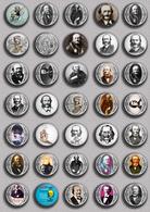 Jacques Offenbach Opera Music Fan ART BADGE BUTTON PIN SET 1 (1inch/25mm Diameter) 35 DIFF - Music