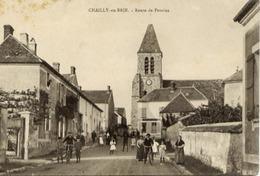 77 CHAILLY-EN-BRIE - Route De Provins - Très Animée : Enfants Au Milieu... - France