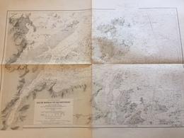 Carte HYDROGRAPHIQUE MARINE 1838  - MANCHE  - ILES BREHAT ET SES ENVIRONS - Cartes Marines