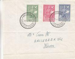 Belgique - Lettre De 1954 ° - Oblit Breendonk - Exp Vers Hever - Idées Européennes - - Cartas