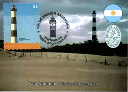 ARGENTINE. Timbre De 2010 Sur Carte Maximum. Phare Argentin. - Lighthouses