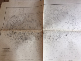 Carte HYDROGRAPHIQUE MARINE 1890  - MANCHE  - ILES  CHAUSEY - Cartes Marines