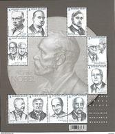 Belg. 2016 - COB N° BL 244 ** - Les Dix Prix Nobel Belges (timbres N° 4636 à 4645) - België