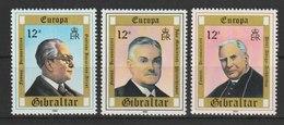 MiNr. 405 - 407  Gibraltar / 1980, 6. Mai. Europa: Bedeutende Persönlichkeiten. - Gibraltar