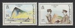 MiNr. 451 - 452 Gibraltar / 1982, 11. Juni. Europa: Historische Ereignisse. - Gibraltar
