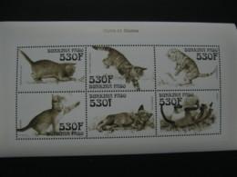 Burkina Faso 1999 Fauna Cats Sheetlet  SCOTT No.1148 I201807 - Burkina Faso (1984-...)