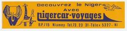 AUTOCOLLANT ADHÉSIF STICKER DÉCOUVREZ LE NIGER AVEC NIGER CAR VOYAGE - NIAMEY ÉLÉPHANT GIRAFE - Stickers