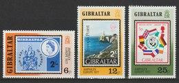 MiNr. 364 - 366 Gibraltar / 1977, 27. Mai. Internationale Briefmarkenausstellung AMPHILEX '77, Amsterdam. - Gibraltar