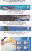 Australia 2018 Great Barrier Reef - Macau Show - Four Daily Minisheets MNH - 2010-... Elizabeth II