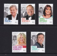 Australia 2018 Legends Of The Small Screen Set Of 5 MNH - 2010-... Elizabeth II