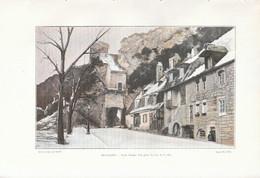 1902 - Phototypie Couleur - Besançon (Doubs) - La Porte Taillée - FRANCO DE PORT - Non Classés