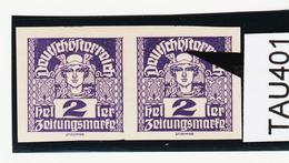 TAU401 ÖSTERREICH 1920 Michl 293 PLATTENFEHLER (als Beweis 2 Stück Eingestellt) Ein Ö Punkt Unten ** Postfrisch - Abarten & Kuriositäten