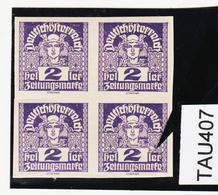 TAU407 ÖSTERREICH 1920 Michl 293 PLATTENFEHLER (als Beweis 2 Stück Eingestellt) Weißer FLECK ** Postfrisch - Abarten & Kuriositäten