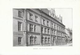 1902 - Phototypie - Besançon (Doubs) - La Façade Extérieur Du Palais Granvelle - FRANCO DE PORT - Non Classés