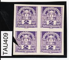 TAU409 ÖSTERREICH 1920 Michl 293 PLATTENFEHLER (als Beweis 2 Stück Eingestellt) 3 BOGEN VERSCHMOLZEN ** Postfrisch - Abarten & Kuriositäten