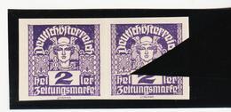 TAU399 ÖSTERREICH 1920 Michl 293 PLATTENFEHLER (als Beweis 2 Stück Eingestellt) 3 BOGEN VERSCHMOLZEN ** Postfrisch - Abarten & Kuriositäten