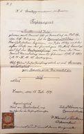 AD063 - Altes Zeugnis Schulzeugnis Reifezeugnis K.K.- Staats-Gymnasium Znaim 1909, Handgeschrieben - Diplome Und Schulzeugnisse
