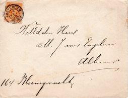 16 MEI 95    Envelop  Lokaal Te Amsterdam Met NVPH34 Met Kleinrond En Firmalogo Achterzijde - Periode 1891-1948 (Wilhelmina)