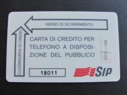 ITALIA 4014 C&C - USI SPECIALI CARTA CREDITO BIANCA SIP - Italia