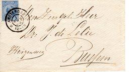 1 NOV 96     Envelop Van Amsterdam Met NVPH35 Naar Bussum Met Grootrond - Periode 1891-1948 (Wilhelmina)