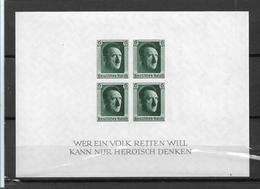 DSP133a/ DRITTES  Reich,  Block 8 ** (Marken Ungezähnt) 1. NAPOSTA 1937 ** - Blocks & Kleinbögen