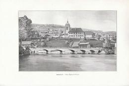 1902 - Phototypie - Morteau (Doubs) - Le Pont, L'église Et Le Prieuré - FRANCO DE PORT - Non Classés