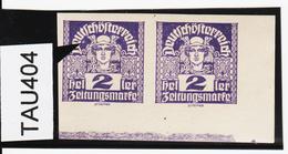 TAU404 ÖSTERREICH 1920 Michl 293 PLATTENFEHLER (als Beweis 2 Stück Eingestellt) FARBFLECK ** Postfrisch - Abarten & Kuriositäten