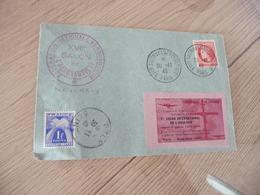 XVIIème Salon De L'Aéronautique 30/11/1946 + Vignette + Taxe + TP Mazelin - Marcophilie (Lettres)