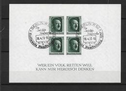 DSP133d (a) /DRITTES REICH, HITLER- Block 8, Gestempelt Nat. Ausstellung Berlin 18.4.1937   O - Blocks & Kleinbögen