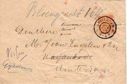 16 SEP 95  Doorgezonden Envelop Lokaal Te Amsterdam Met NVPH 34 Met Gr.rond - Periode 1891-1948 (Wilhelmina)