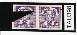 TAU398 ÖSTERREICH 1920 Michl 293 PLATTENFEHLER (als Beweis 2 Stück Eingestellt) FARBFLECKE IN ZIERLEISTE ** Postfrisch - Abarten & Kuriositäten