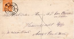 6 DEC 99 Envelop Lokaal Te Amsterdam Met NVPH 34 Met Gr.rond - Periode 1891-1948 (Wilhelmina)