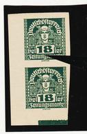 TAU396 ÖSTERREICH 1920 Michl 302 PLATTENFEHLER (als Beweis 2 Stück Eingestellt) FARBFLECKE IN ZIERLEISTE ** Postfrisch - Abarten & Kuriositäten