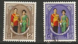 Thailand - 1965 Royal Wedding Anniversary Used    Sc 428-9 - Thailand