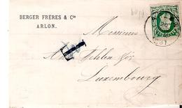 Pte L. TP. N° 30 ARLON 20/1/1881 V/LUXEMBOURG - Taxe Annulée. - 1869-1883 Leopold II.