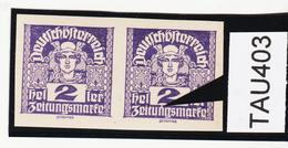 """TAU403 ÖSTERREICH 1920 Michl 293 PLATTENFEHLER (als Beweis 2 Stück Eingestellt) STRICH Oberhalb """"n"""" ** Postfrisch - Abarten & Kuriositäten"""