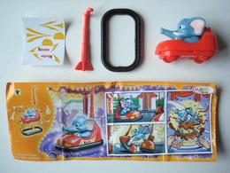 Kinder FF 266 Elephant Sammy Auto Tamponneuse, Avec Bpz. - Familles