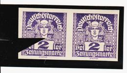 TAU406 ÖSTERREICH 1920 Michl 293 PLATTENFEHLER HALSSTRICH Unten UNTERBROCHEN ** Postfrisch - Abarten & Kuriositäten