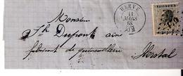 L. TP. N° 17 Los.Pts 179/HERVE  Du 11/3/1868 Vers HERSTAL. - 1865-1866 Profil Gauche